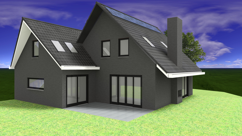 Ontwerp nieuwe woning familie krist van schetsontwerp tot for Nieuwe woning bouwen
